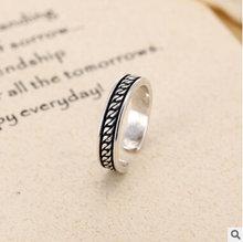 Мужское кольцо из серебра 925 пробы в стиле ретро