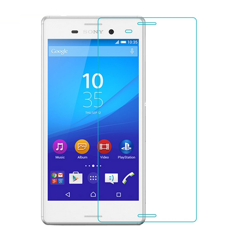 Tempered Glass For SONY Xperia M4 Aqua M 4 Ultrathin Toughened Protective Film for Soni Experia E2333 E2353 E2303 retail packing in Phone Screen Protectors from Cellphones Telecommunications