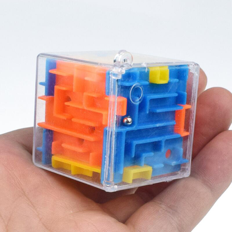 1PC 3D Magic Speed Cube Magical Maze Labyrinth Rolling Toys Learning Puzzle Maze Ball For Kid Children Toy Christmas Gift