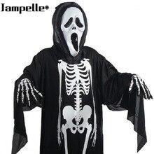 Костюм на Хэллоуин, череп, скелет, демон дух, Маскарадные костюмы с страшной маской для взрослых и детей, карнавальный маскарадный костюм