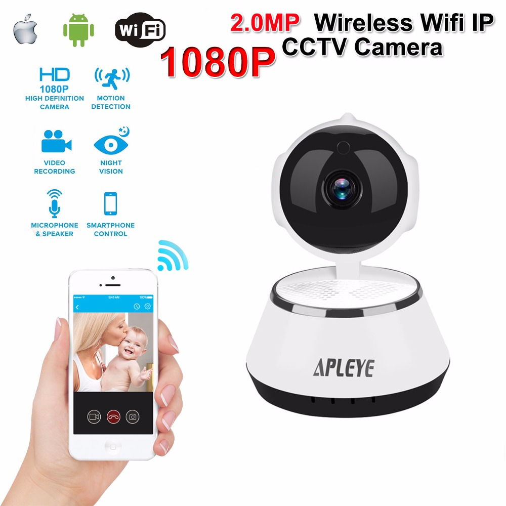 APLEYE 720P HD Wireless IP Camera Eyeball IR-Cut Night Vision Network Pan/Tilt P2P Baby Monitor CCTV Security 1080P Wifi Camera wanscam hw0021 hd 720p wireless wifi ip camera baby monitor ir night vision built in mic pan tilt for android