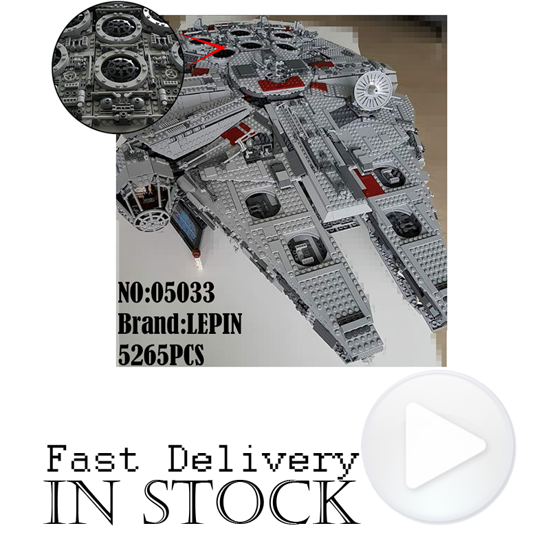 LEPIN 05033 Ultimate Collector's Millennium Falcon Star Clone Wars Building Blocks Bricks Toys Compatible with legoINGly 10179 игровой набор mattel star wars tie fighter vs millennium falcon 2 предмета cgw90