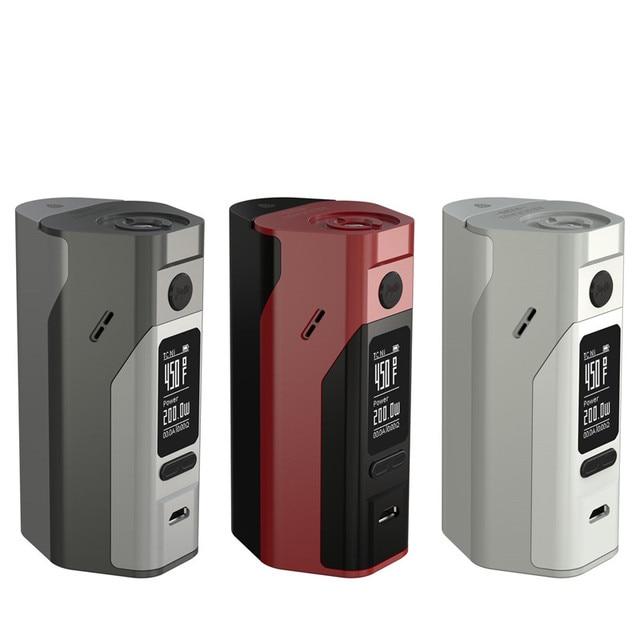 100% Оригинал Wismec Reuleaux RX2/3 Коробка Мод обновляется RX200 150 Вт или 200 Вт выходная мощность Dual Circuit защита 18650 коробка мод