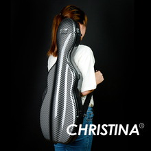 Высокое Качество Италия Кристина Скрипка чехол 4/4 скрипка из углеродного стекловолокна Чехол черный цвет аксессуары для скрипки