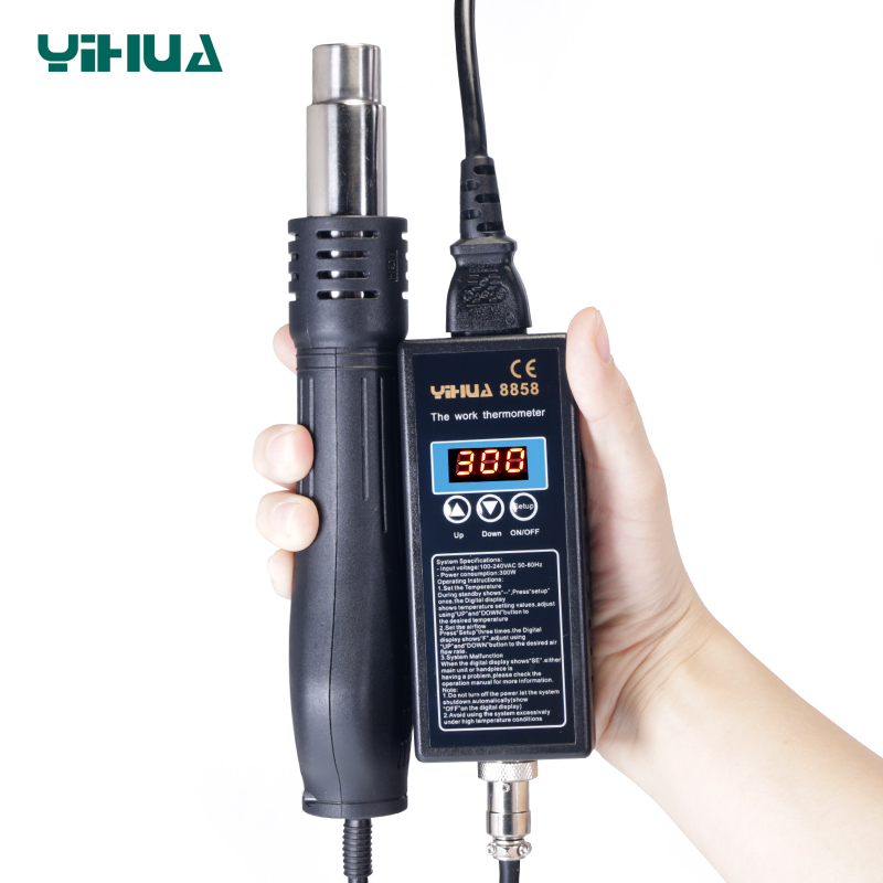 New big power YIHUA <font><b>8858</b></font> <font><b>110V</b></font> 220VPortable BGA Solder Rework Station Digital <font><b>Hot</b></font> <font><b>Air</b></font> Blow dryer <font><b>Heat</b></font> <font><b>Gun</b></font> Soldering Station <font><b>8858</b></font> image