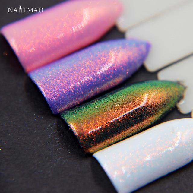 10 ml Nail Art Nail Glitters Polvo De Hadas Sirena de Oro En Polvo ...