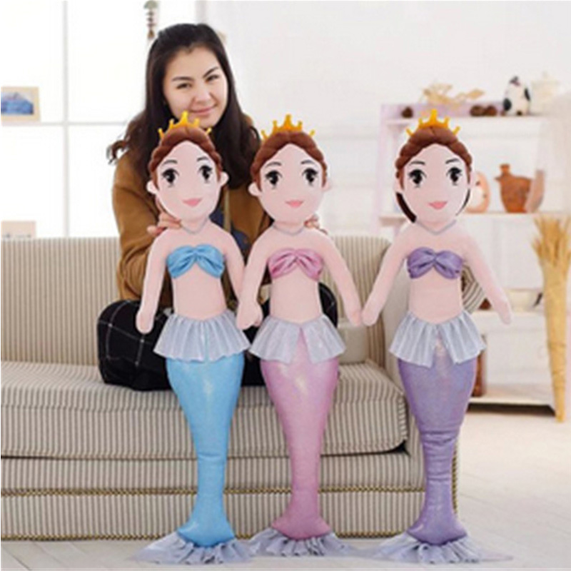 Fancytrader Mermaid Plush Dolls Big Soft Stuffed Fairy Beauty Fish Toys for Girls Best Gifts