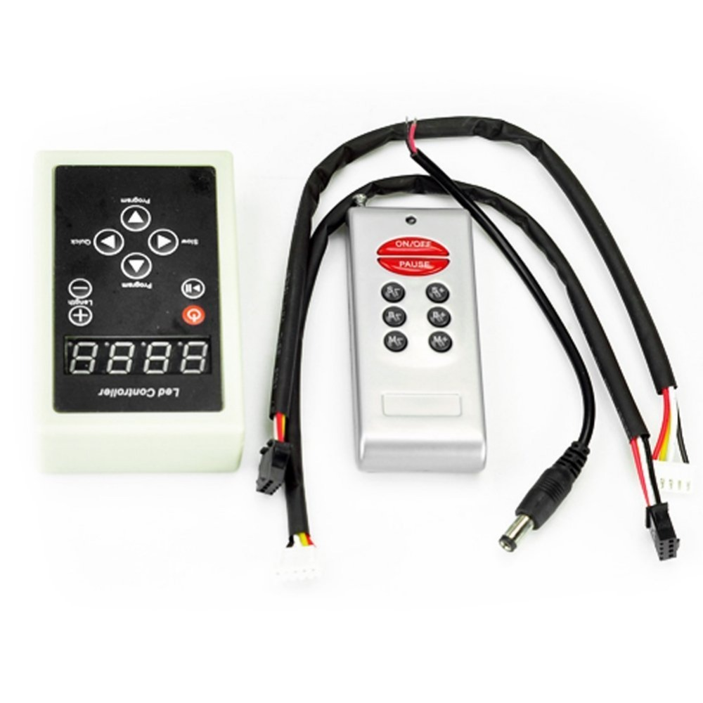 US $16 15 5% OFF RGB LED Controller WS2801 Programmable DC 12V For LED RGB  Pixel Strip WS2801 Remote Controller-in RGB Controlers from Lights &