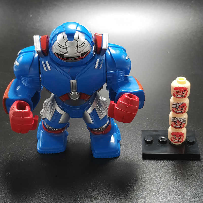 Marvel Avengers: Endgame Super heroes Iron Man Mech Change expression Figures Building Blocks Toys For Children Gifts