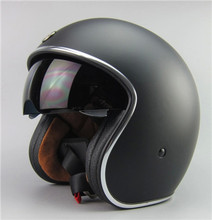 2015 Free shipping!Fashion brand TORC vintage motorcycle helmets matte black captain america  Goggles Retro Vintage Style ECE