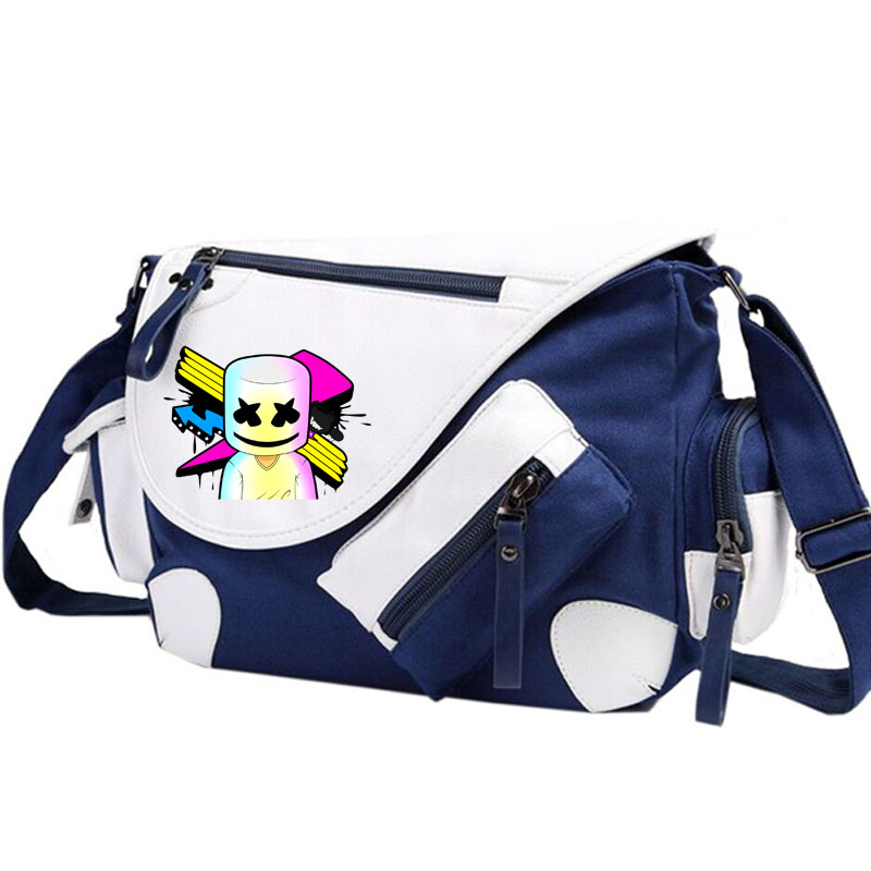 Marshmello DJ Shoulder bag Backpack Women Men Messenger Bags Rucksack Travel Gym Schoolbag Bag