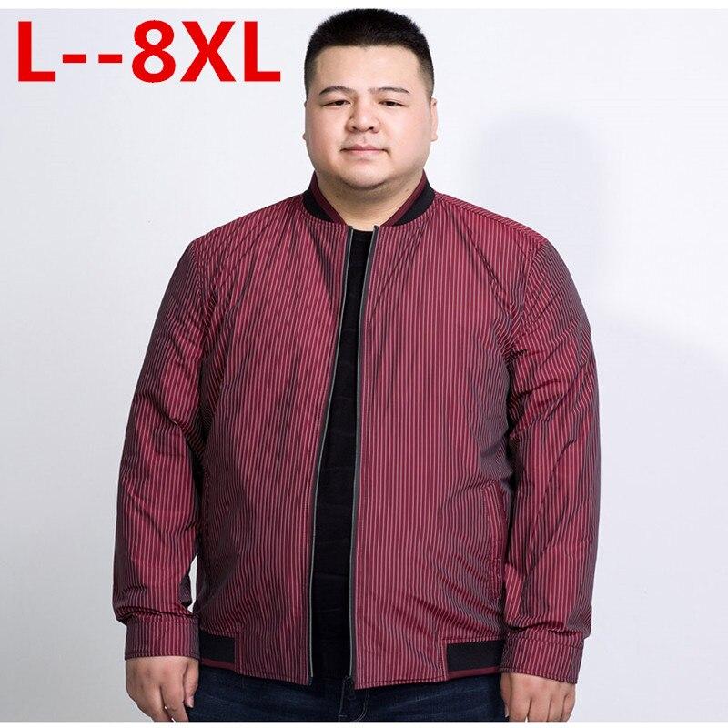 10XL 8XL 6XL 5XL 4XL Jacke Männer 2018 Frühjahr Neue Mode dünne Mäntel Bomber Loose Fit Plus Größe Oberbekleidung Plus Größe Marke kleidung - 3