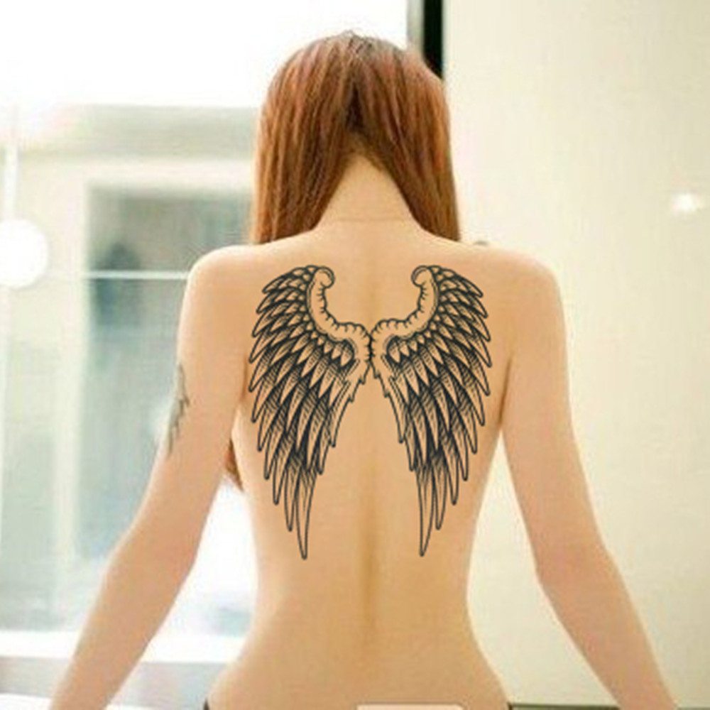 Angel Wings Raver Arm Leg Body Art Waterproof Temporary Tattoo Sticker Women's Make Up Temporary Tattoos