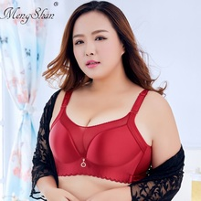 MengShan underwear women big size bra Smooth breast plating Fat mm C-F cup Light-proof adjustable thin push up 120E 120F