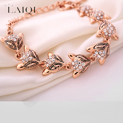 Laiqi Fox Bracelets Bangle Link Chain Trendy Cute Charm For Women Pulseiras Femininas S Beautifully