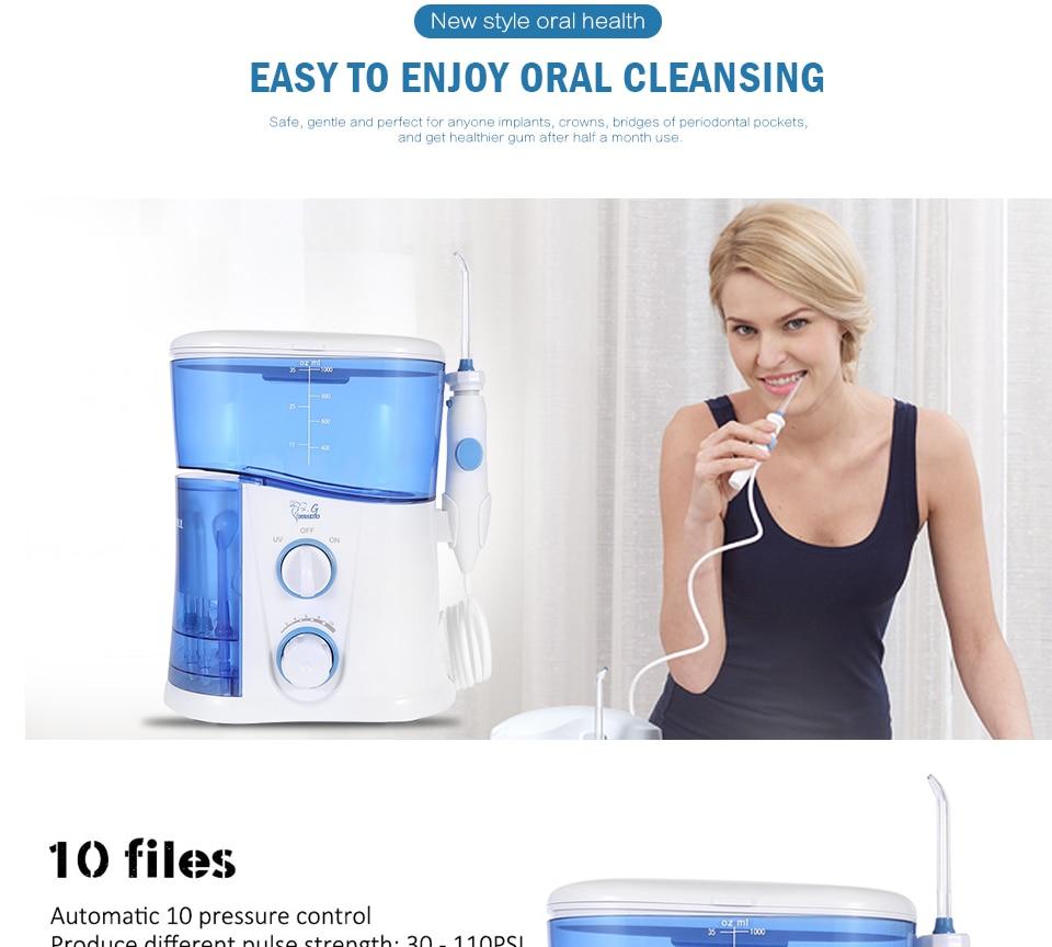 Nicefeel Fc166 7 Stücke Tipps Wasser Flosser Oral Irrigator 600 Ml Wasser Flosser Oral Hygiene Dental Flosser Wasser Zahnseide Schönheit & Gesundheit