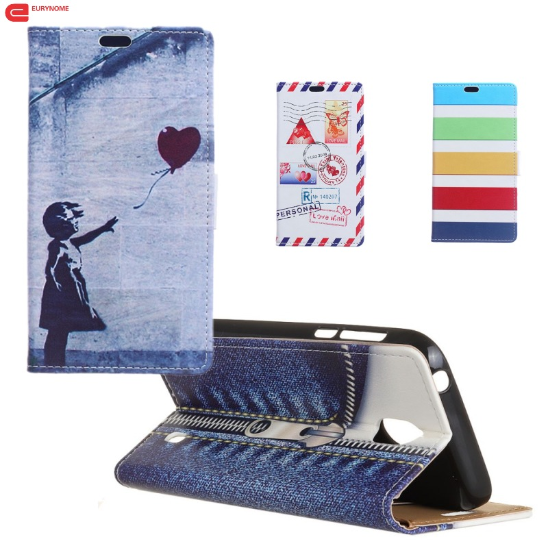 Honor 10 Fashion Retro Cartoon Stamp Owl Cowboy Wallet Card PU Leather Stand Flip Cover Case For Huawei honor 10 honor10 case