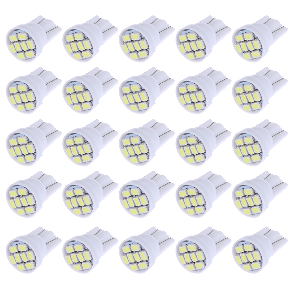 20Pcs Car-styling Led Interior Car Lights White T10 1206 8SMD Width Lamp W5W Travel Auto Wedge Reading Light-emitting Diode 12V 2pcs 12v 31mm 36mm 39mm 41mm canbus led auto festoon light error free interior doom lamp car styling for volvo bmw audi benz