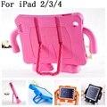 Для iPad 4 case EVA Foam Противоударный Case для iPad 2 3 Funda Coque Дети Дети Ручка Стенд Защитная Крышка Падение Устойчивы