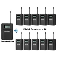 MAILADA Tour Guide System 1 Transmitter 10 Receiver For Church Translation Teaching Travel Simultaneous Interpretation F1437