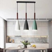 Lámpara colgante moderna nórdica para comedor, restaurante, dormitorio, Loft, colorida, de aluminio, E27
