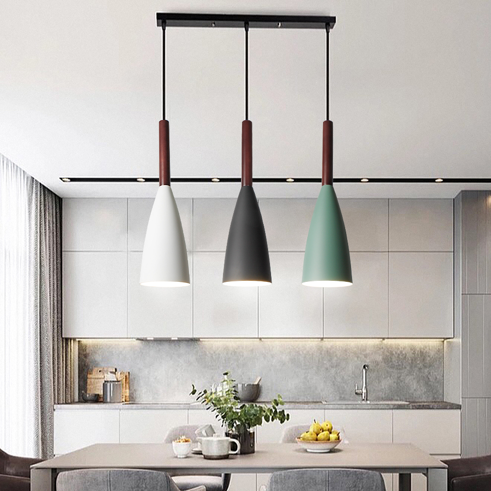 Modern Pendant Lamp Nordic Pendant Light For Dinning Room Restaurant Bedroom Loft Hanging Lamp Colorful Free Match Aluminum E27