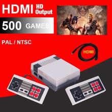 HDMI HDคลาสสิกย้อนยุคเล่นเกมมือถือครอบครัวมินิทีวีวิดีโอเกมคอนโซลBuilt-In 500/600เกมกับ4/2ปุ่มควบคุม