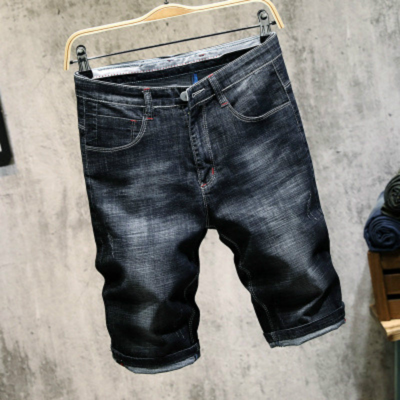 Cotton Jean Shorts Men Vintage Solid Hole Shors for Guys 2018 Summer New Europe America Style Plus Size H990