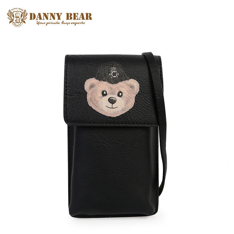 DANNY BEAR Women Fashion Mini Leather Crossbody Bag Korean Waterproof Messenger Bags Teenage girls Cute Shoulder Cell Phone Bags 2017 fashion all match retro split leather women bag top grade small shoulder bags multilayer mini chain women messenger bags