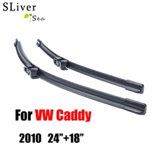 цена на Pair Windscreen Wiper Blades For VW Caddy 2010 Onwards,Fit Windshield Silicone Rubber Wipers Arm,Auto Parts Car accessories