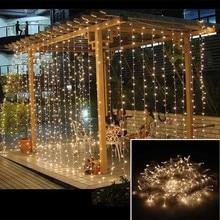 3x1M LED Wedding fairy Light christmas garland LED Curtain string Light outdoor new year Birthday Party Garden Decoration