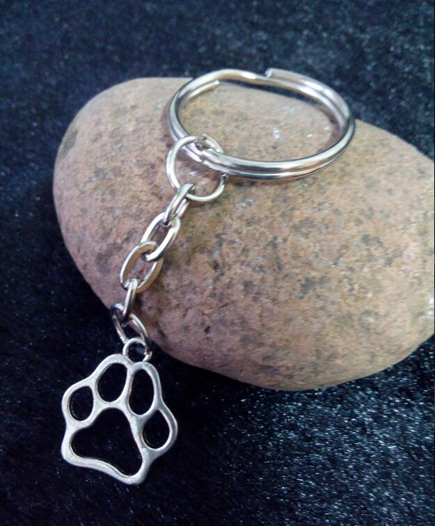 Online Buy Wholesale Paw Print Keychains From China Paw