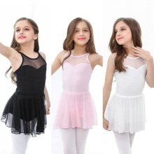 ballet dress dance leotard Girls camisole criss-cross back mesh skirt leotards for girls