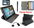 4in1 Kit For Samsung Galaxy Tab 2 10.1 P5100 P5110 MultiView Stand luxury leather case + OTG Cable + Screen Protector + Pen