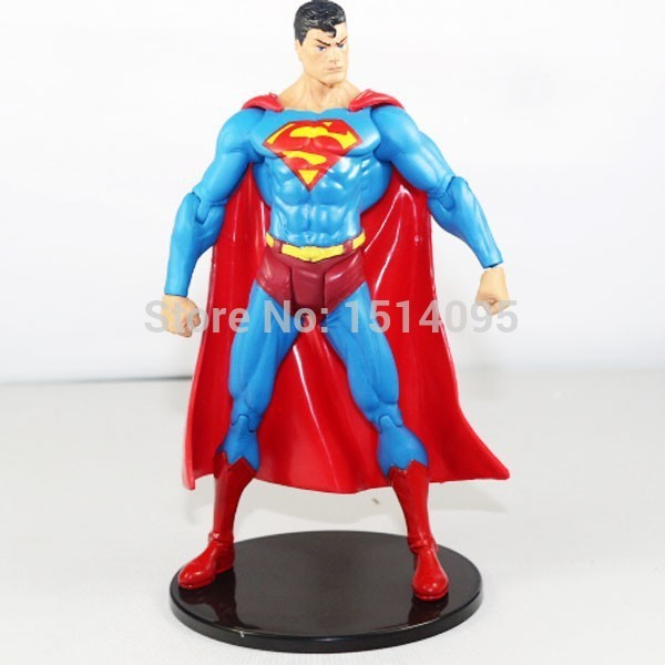 "7 ""18 CENTÍMETROS DC Comics Superhero Superman PVC Action Figure Collectible Modelo Toy SM001"