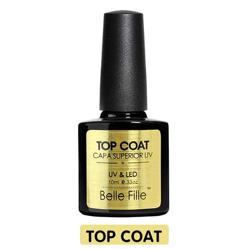 cb29fb5fef BELLE FILLE Base And Top Coat Gel Nail Polish UV 10ml Transparent Soak Off  Primer Gel Polish Gel Lacquer Nail Art No Wipe Top