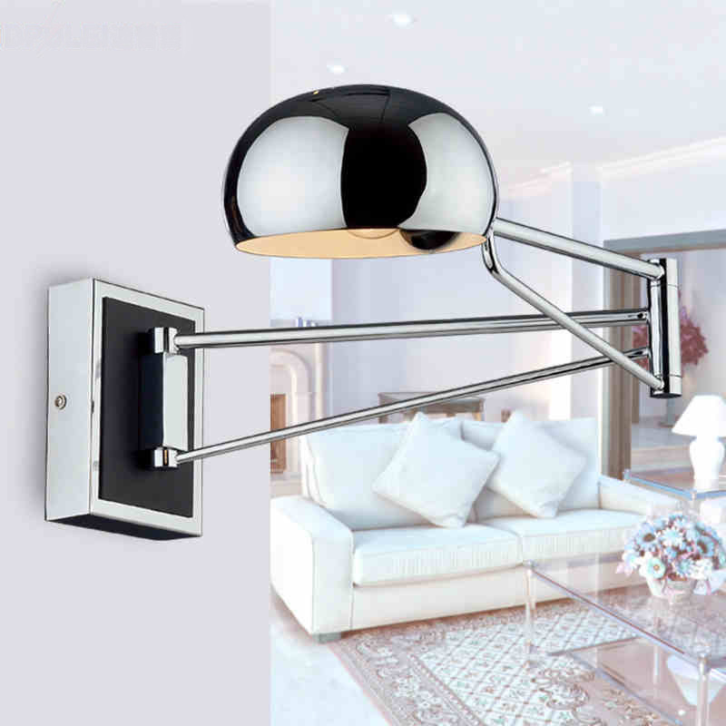 Modern LED Wall Lamps Simple Bedside Wall Lamp With Dimmer Switch Chrome Flexibility Wall Lights Indoor Lighting WWL149 modern lamp trophy wall lamp wall lamp bed lighting bedside wall lamp