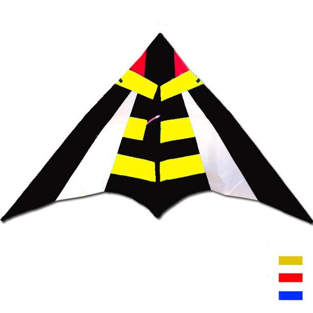 O envio gratuito de alta qualidade 2.8 m abelha assassina delta pipa com linha de nylon ripstop tecido pipa voando brinquedos hcxkite grande pipa fábrica