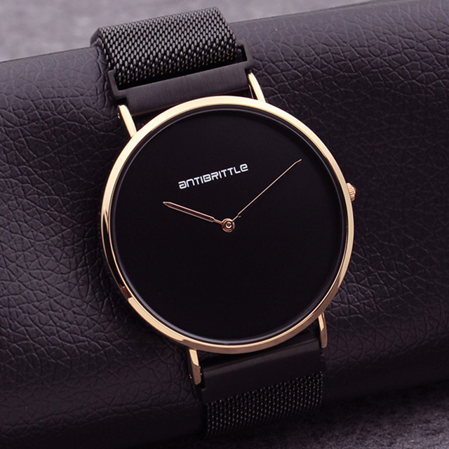 6a99ccd64f6 Luxury Fashion Japan Quartz Black Ultra Thin Man Watch Rose Gold Woman  Simple Leather Magnet Mesh Stainless Steel Waterproof New-in Quartz Watches  from ...