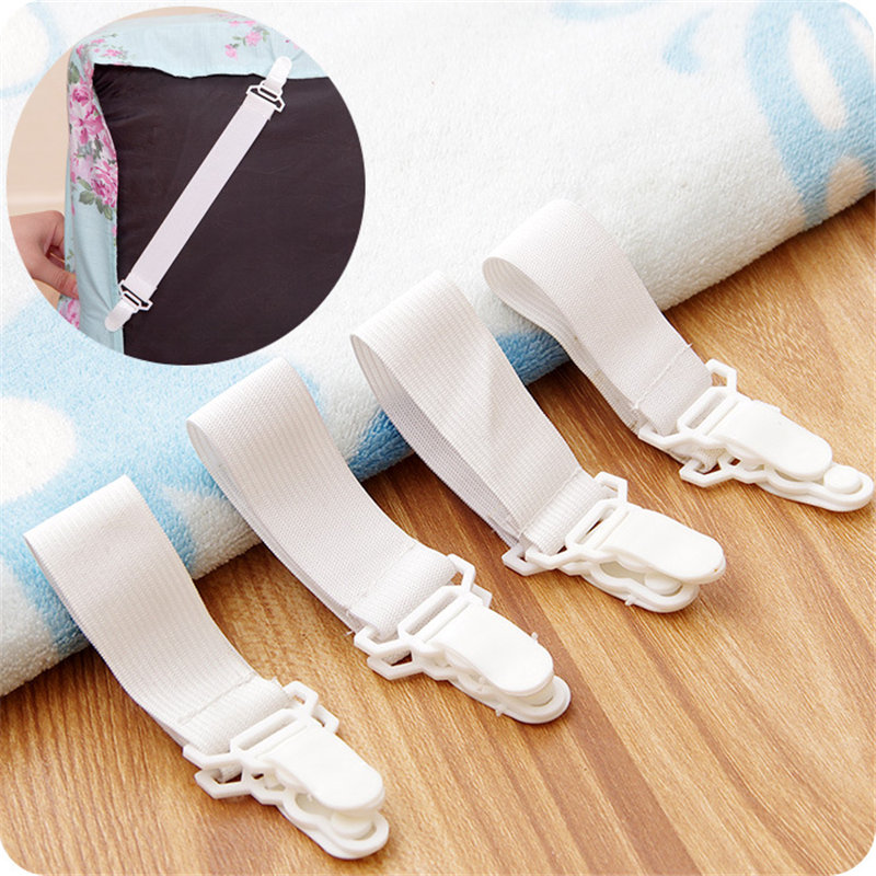 Bedding Sets Accessory 4pcs Nylon Buckle Elastic Band For Bed Sheets Super Practical Bedspread Non Slip Sheet Fixer Holder