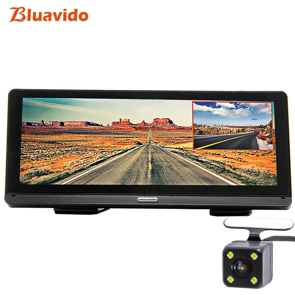 Bluavido 8IPS Car DVR GPS 4G Android Navigation ADAS Full HD 1080P Dash Camera Dual Lens car video Recorder Remote Live monitor