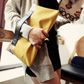 Promotion Super Quality Women Bag Day Clutch Color Block Splicing Patchwork bags Fashion Folding Day clutches Cheap Wholesale