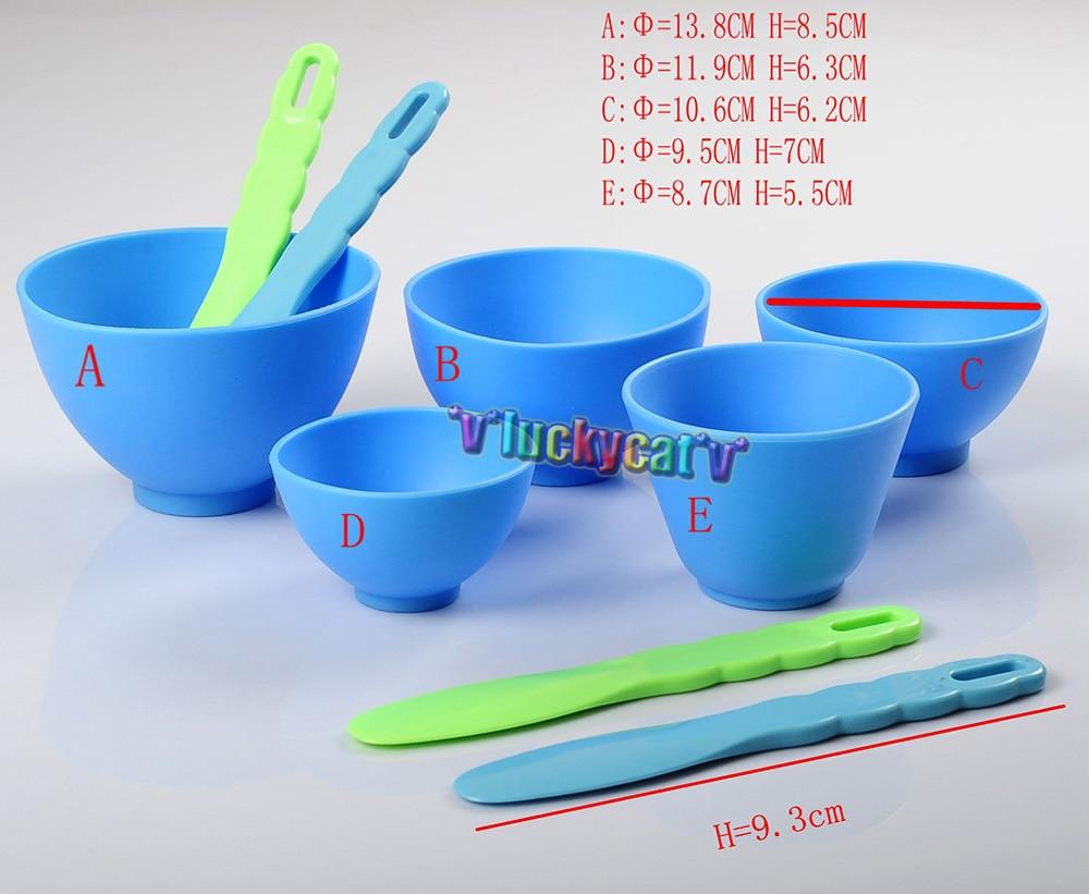 5pcs Dental Lab Rubber Mixing Bowls + 4pcs Spatulas Sale