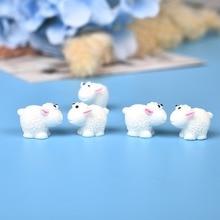Mini Animals Miniatures-Accessories Hedgehog Garden-Figurines Sheep-Chicken-Fairy Cute