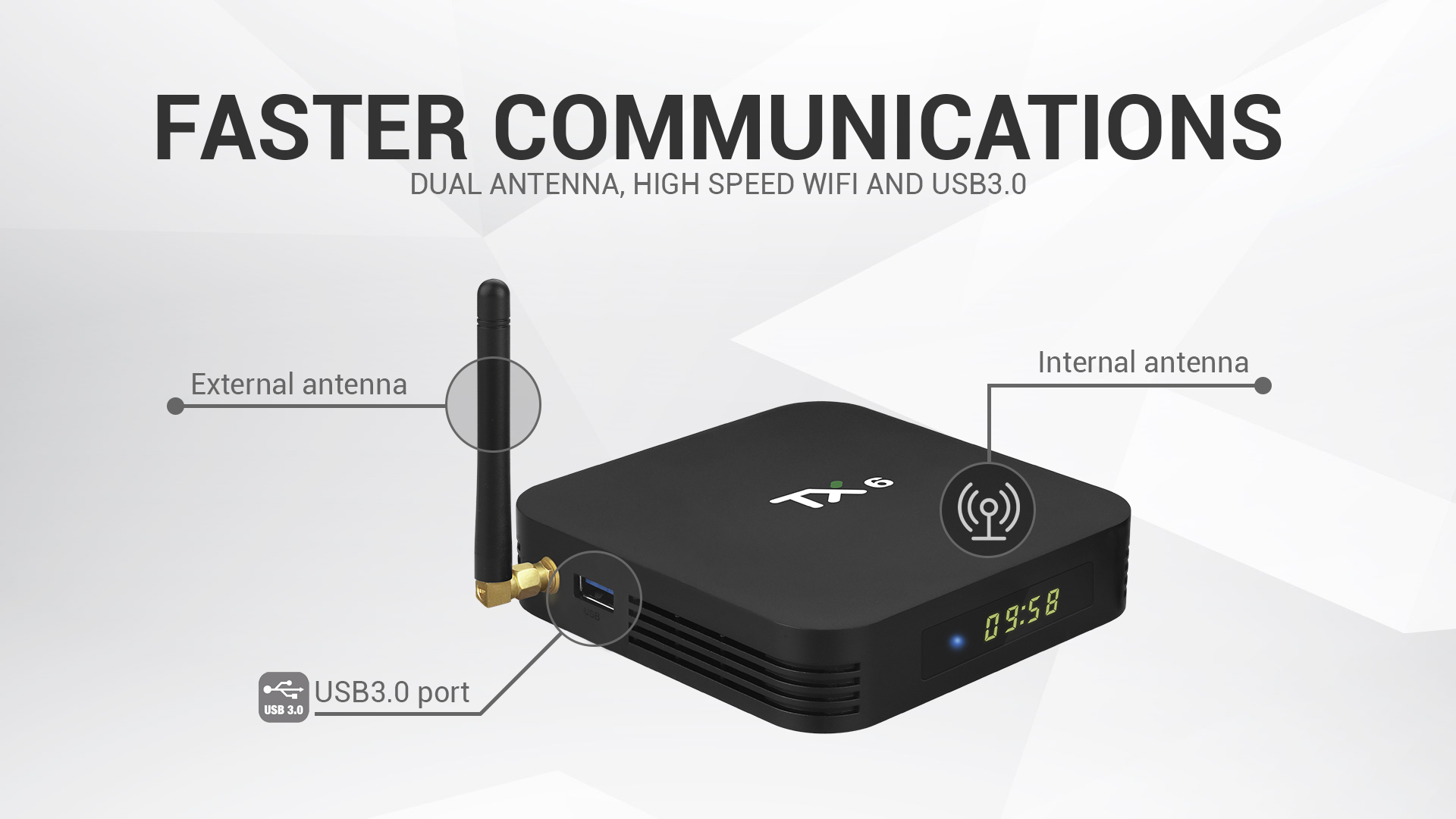 2.4g 5g duplo wifi bt4.1 4 k