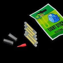 50pcs/10packs Fishing Luminous Light Nightstick Chemical Glow Stick Night Fishing Fluorescent 4.5 *37mm