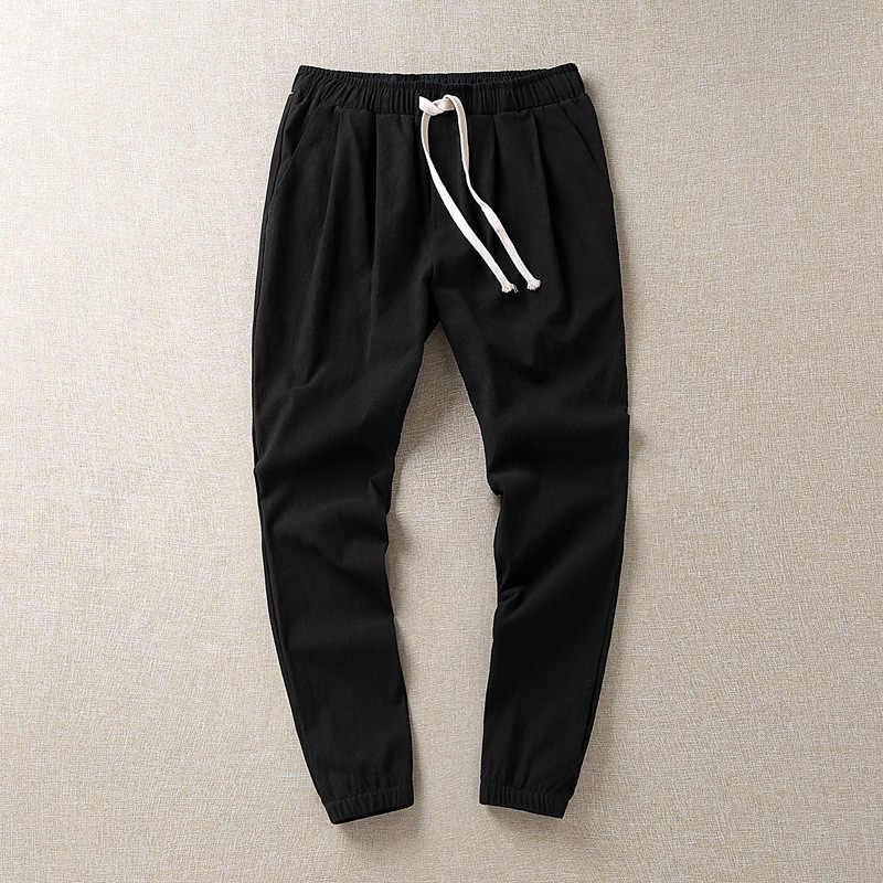 Męskie spodnie w rozmiarze Plus 8XL solidne workowate luźne spodnie elastyczne bawełniane spodnie dresowe spodnie dorywczo duże duże Plus rozmiar 5XL 6XL 7XL