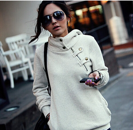free shipping Autumn and winter sales of new authentic  and leisure large zipper Hoodie Sweatshirt