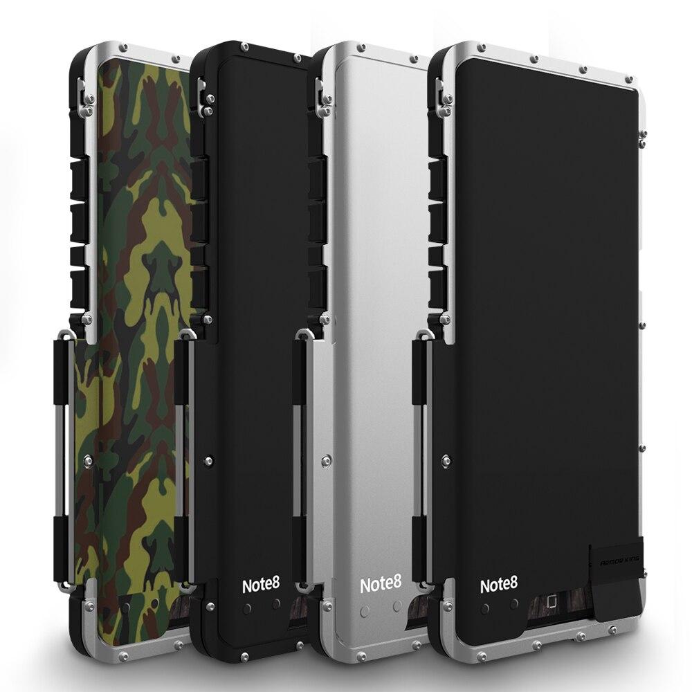 Pour Samsung Galaxy Note 8 coque de Protection complète. Étui à rabat en acier inoxydable pour homme