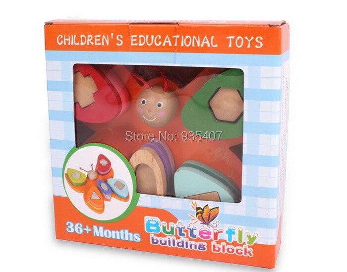 Jouets en bois enfants jouets éducatifs blocs de construction papillon 36 + mois livraison gratuite